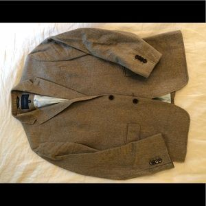 Banana Republic Tan Tweed Blazer